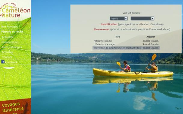 L'équipe de Caméléon Nature met la dernière main au site Internet qui présentera les offres - Capture écran