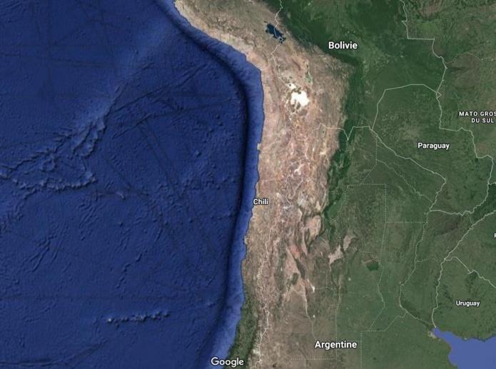 Le Chili exige une traçabilité géographique pendant 14 jours à l'aide d'une application - Crédit photo : Google Maps