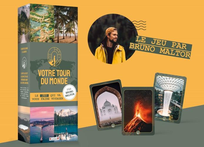 """Le jeu """"Votre tour du monde"""" sortira le 26 novembre 2020 et sera disponible dans les Fnac, Cultura et autres espaces culturels des grandes surfaces - Crédit photo : Votre tour du monde"""