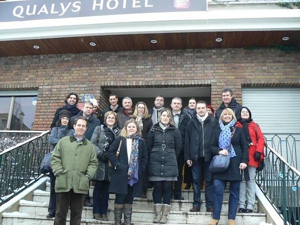 12 professionnels des déplacements en groupe en autocars ont été invité par la SEH à passer un week-end découverte à Paris - Photo DR