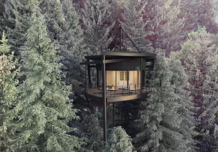 La cabane feuille ouvrira ses portes au Val d'Arly - DR