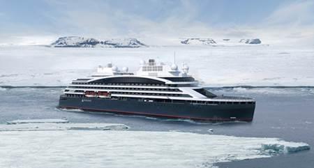 Le Commandant-Charcot, futur navire de haute exploration polaire de la compagnie - DR Ponant