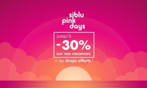 Siblu : jusqu'à - 30% avec les Pink Days