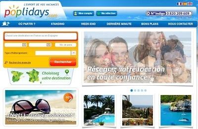 En 2013, Poplidays.com va communiquer sur le web et à la télévision - Capture d'écran