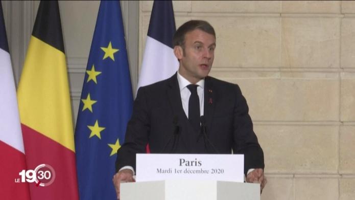 Emmanuel Macron, lors du point presse a annoncé que des mesures seront prises pour dissuader les Français d'aller skier en Suisse notamment - DR