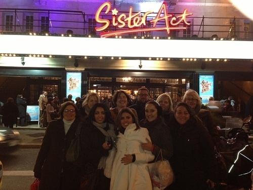 10 agents de voyages ont été tirés au sort pour assister à une représentation de la comédie musicale Sister Act au théâtre Mogador - Photo DR