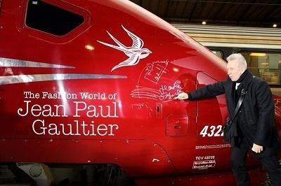 Jean-Paul Gaultier a lui-même dédicacé la rame Thalys qui lui est dédiée - Photo PMaurein