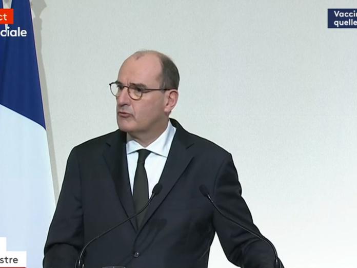 """Jean Castex le Premier Ministre a annoncé que la vaccination serait gratuite """"pour tous"""" et ne sera pas obligatoire. - Capture écran"""