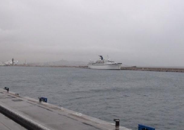 Malgré la levée de la saisie de l'APST, le Princess Danae ne devrait pas reprendre la mer tout de suite - Photo Anaïs Borios