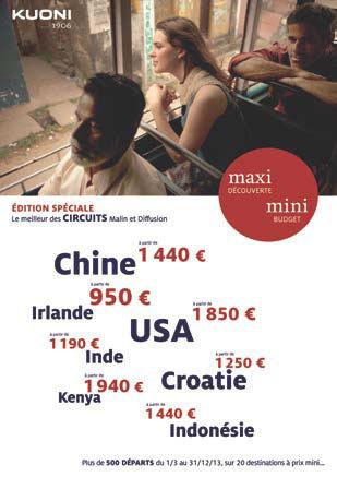 """Circuits : Kuoni édite une brochure """"Maxi-Mini"""""""