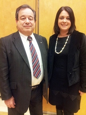 Gérard Coute, Président de la FFCC, a rencontré Sylvia Pinel jeudi 7 février 2013 - Photo DR