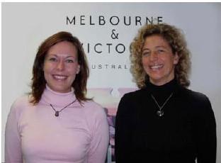 Meike Voss à gauche de la photo et Susanne Stellberg à droite