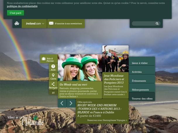 Le nouveau site web de l'office de tourisme d'Irlande - DR