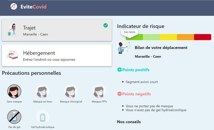 """La startup spécialiste de la mobilité The Treep lance """"EviteCovid.fr"""" - Capture écran"""