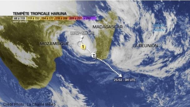 D'abord, tempête tropicale, Haruna s'est formé dans le Canal qui sépare Madagascar du Mozambique - Photo : La Chaîne Météo