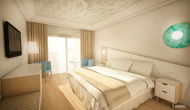 Les nouvelles chambres vont rêvetir ces nouvelles couleurs - DR RIU