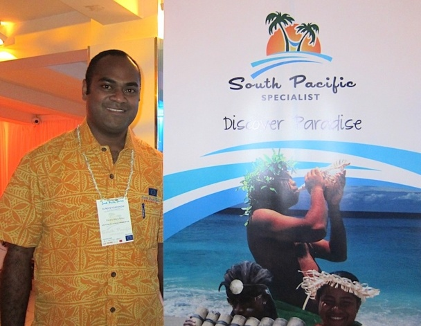Petero Manufolau, le directeur marketing de l'organisation South Pacific Tourism est venu à Paris présenter les différentes offres touristiques des îles du Pacifique Sud - DR