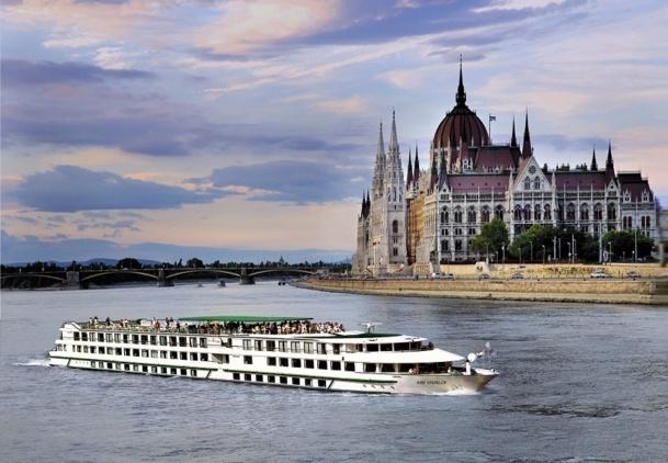 Le MS Vivaldi de CroisiEurope qui navigue sur le Danube - Photo CroisiEurope