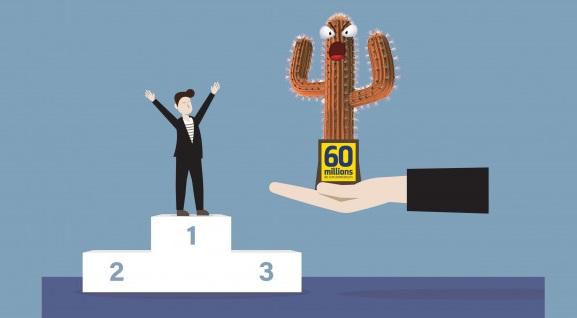 """eDreams Odigeo a reçu le """"Cactus d'or"""" de l'année 2020 - Crédit photo : 60 millions de consommateurs"""
