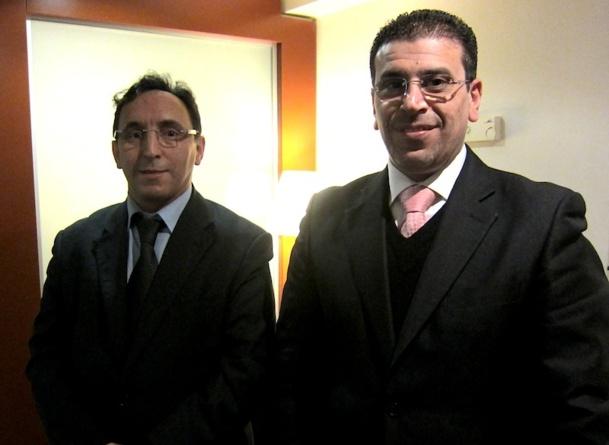 Fathi Fartoun, le manager France d'Uniques Vacances accompagné par Kareem Sader, le manager général du pôle tourisme du groupe Kharafi. DR