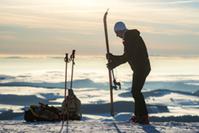 Ski de randonnée sur les sommets du massif du Sancy (63) © P. Busser/Auvergne-Rhône-Alpes Tourisme
