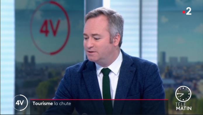 Jean-Baptiste Lemoyne sur le plateau de France 2 - DR capture écran