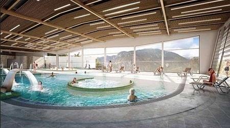 L'édifice disposera d'un Spa avec 3 bassins intérieurs et un extérieur - Photo DR