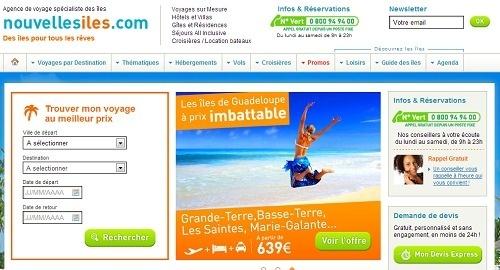 Nouvellesiles.com est le site le plus rapide parmi ceux des TO français selon GMetrix - Capture d'écran
