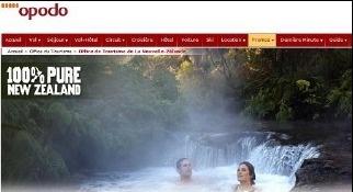 Déployée sur le sites de réservation en ligne, la campagne a pour objectif de diriger les internautes vers le site NewZealand.com pour leur donner envie de venir passer des vacances dans le pays - DR