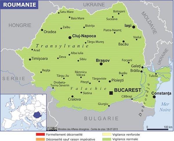 La Roumanie impose depuis le 9 janvier une obligation de quarantaine pour les Français - Crédit photo : France Diplomatie
