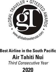 """Air Tahiti Nui élue """"Meilleure compagnie aérienne du Pacifique Sud"""""""