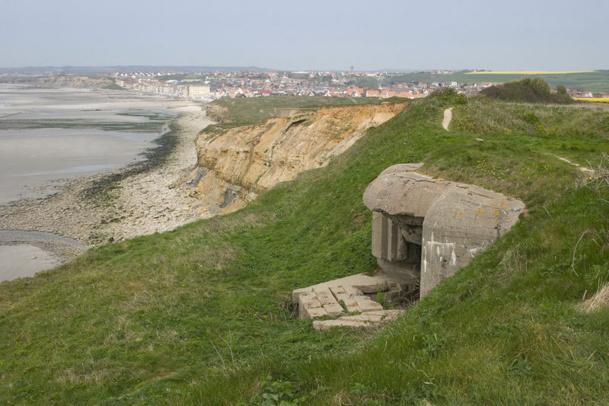 Restes du mur de l'Atlantique au fort de la crèche à Wimereux - Photo Pir6mon Wikipedia