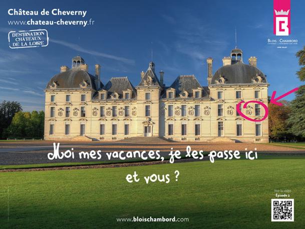 """Avec une nouvelle campagne d'affichage prévue entre le 9 et le 22 avril 2013 dans le métro parisien, les châteaux de la Loire entendent bien """"dépoussiérer leur image"""" - DR"""