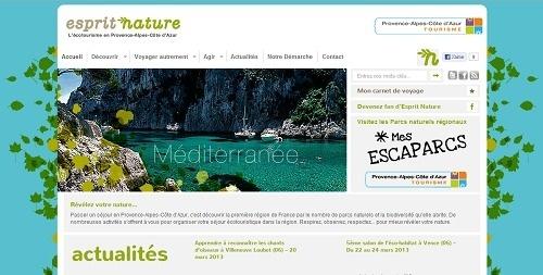 Les internautes qui souhaitent préparer des vacances écotouristiques en PACA peuvent désormais consulter le site ecotourismepaca.fr - Capture d'écran