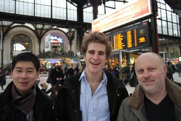 De gauche à droite : Benjamin Lan Sun Luk, responsable technique, Thomas Bompaire, responsable du développement, et Sylvain Gandilhon, responsable des opérations - Photo DR