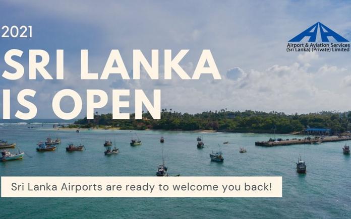 """""""Les aéroports du Sri Lanka sont prêts à de nouveau vousaccueillir"""" - illustration: BIA Airport"""