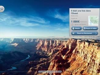 L'application iPad de Vacances Transat donne une large place aux photos - DR