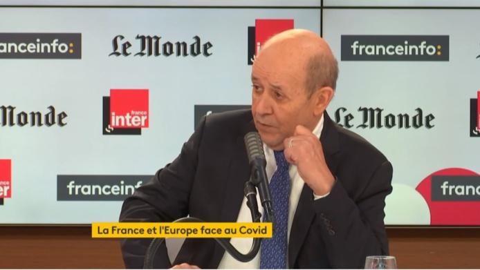 Jean-Yves Le Drian était invité de France Info - DR
