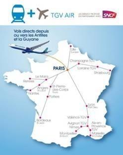 La carte du réseau TGV Air d'Air Caraïbes - DR
