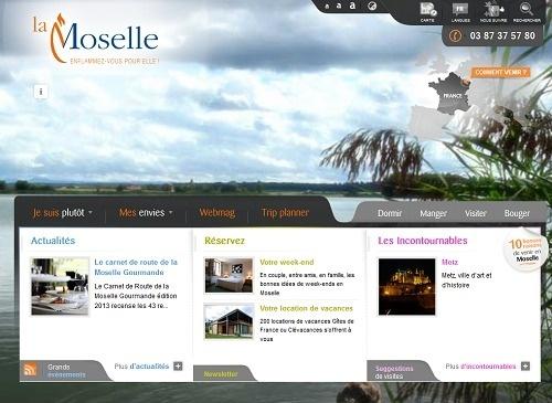 Le nouveau site Internet de Moselle Tourisme fait la part belle aux visuels - Capture d'écran