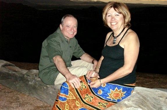 Janie Bousquet avec son époux en novembre 2008. /photo dr