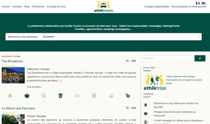 Le Site Ethik Hotels - DR
