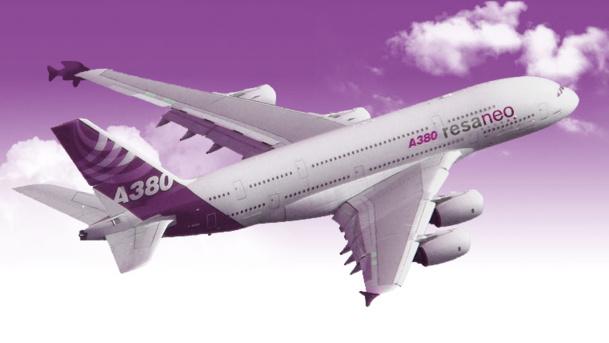 Chaque  Airbus 380 haute densité pourra embarquer chacun 621 passagers en configuration charter /photo dr