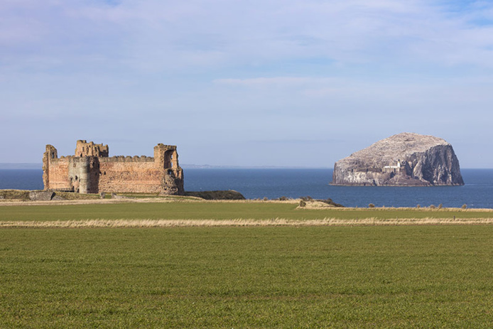 Tantallon Castle and Bass Rock - DR VisitScotland - Kenny Lam