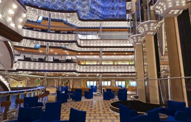 L'Atrium du Costa Diadema, le nouveau navire de Costa Croisières - DR