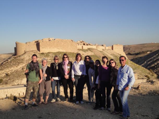 Les 22 agents de voyages invités par le JTB à Ash-Shawbak - DR : A.P.