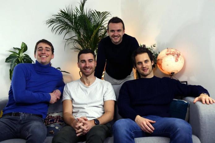 L'équipe de GreenGo, ce sont Félix et Antoine au développement technique, Guillaume et Mathieu au développement commercial. La réunion de 3 ingénieurs polytechniciens et d'un commercial qui partagent les même valeurs - DR : GreenGo