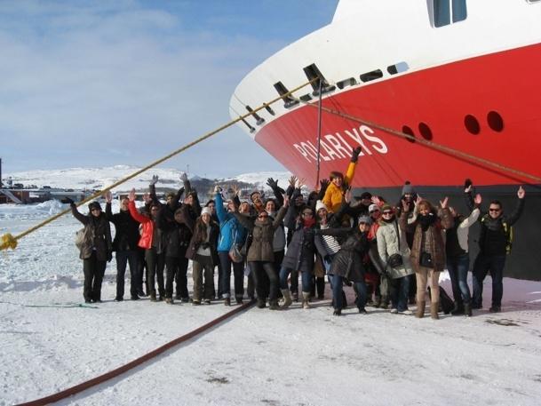Les participants à l'eductour ont pu embarquer pour une croisière en Norvège du Nord sur le MS Polarlys - Photo DR