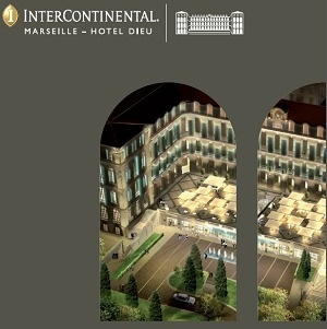 L'InterContinental Marseille est situé derrière la mairie de la ville, près du Vieux-Port - DR