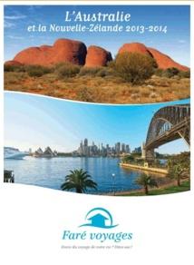 Faré Voyages édite une brochure Australie et Nouvelle-Zélande